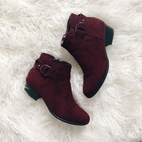Unisa Piera Booties Ankle Boots Maroon